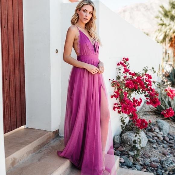 1f96492f87 NWT Vici Luxxel Gown Maxi Dress (Magenta)